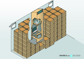 Ambient ventilation for storage in boxes